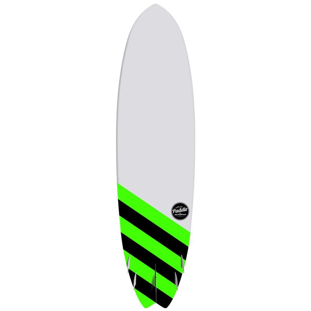 Saltwater Beaver Surf POP Paddle Board 9'6″ - Black & Green - LiquidWild