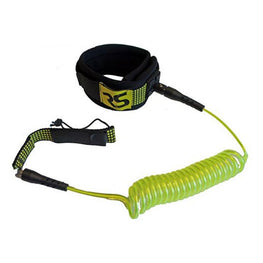 Rave Paddle Board Coiled Leg Leash - Yellow - LiquidWild