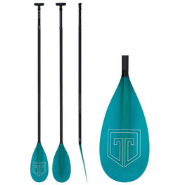 Trident Medium FG Carbon Lever Lock Adjustable Paddle Board SUP Paddle - Blue - LiquidWild