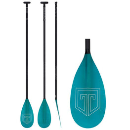 Trident Large FG Carbon Lever Lock Adjustable Paddle Board SUP Paddle Blue - LiquidWild