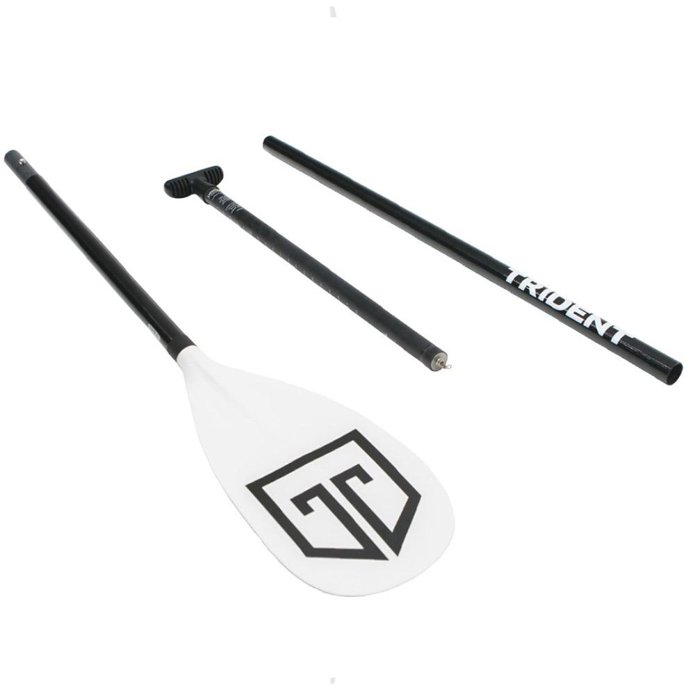 Trident T6 Alloy Lever Lock 3 Piece Adjustable SUP Paddle White - LiquidWild