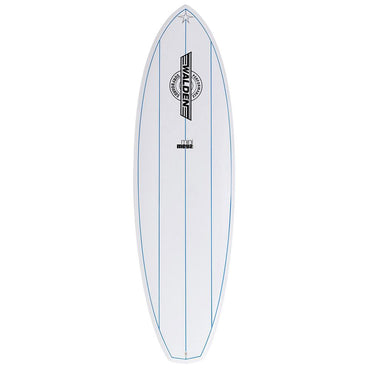 Mini Mega Magic 2 X2 Shortboard Surfboard White Blue Stripes - LiquidWild