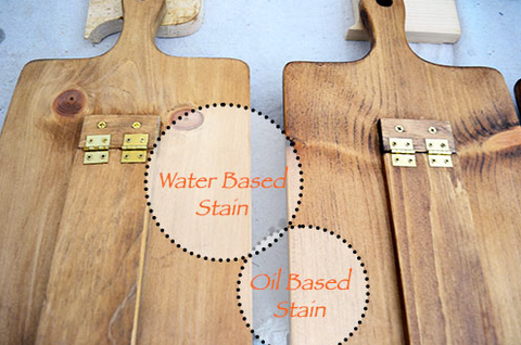 Water and oil based wood stains