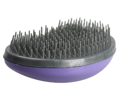 rubber bristled brush