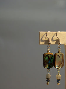 abalone earrings/02 kyanite dangles
