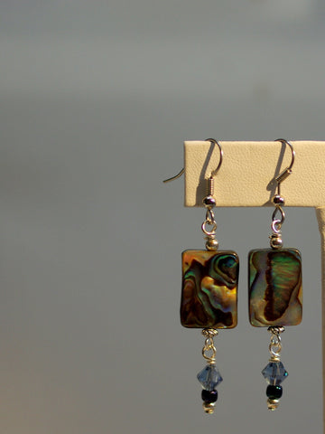 abalone earrings/04 montana blue dangles