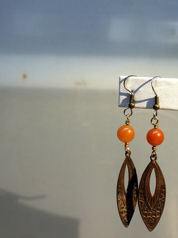 art deco earrings/03 carnelian nauvettes