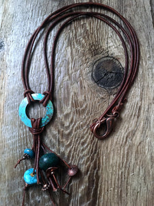 boho necklace/01 mixed turquoise