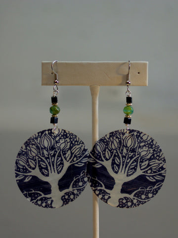 capiz earrings/04 tree of life