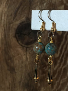 Brass Charm Earrings/03 Finials