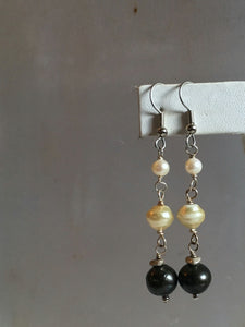 pearl earrings/10 three drop