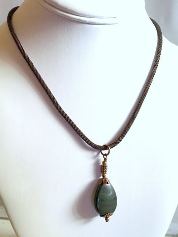 jasper necklace/03 african green jasper