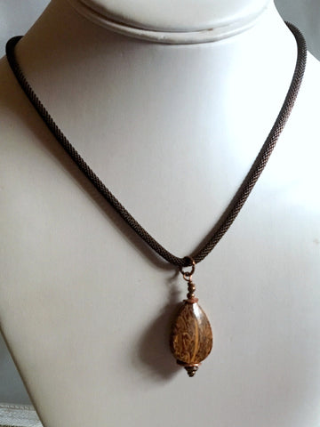 jasper necklace/04 elephant skin jasper
