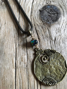 brass medallion necklace/02 ancient pendant