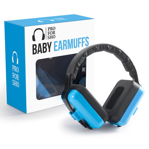 Pro For Sho Baby Hearing Protection - Special Designed Comfort Fit for 3 Months to 2 Years - Blue