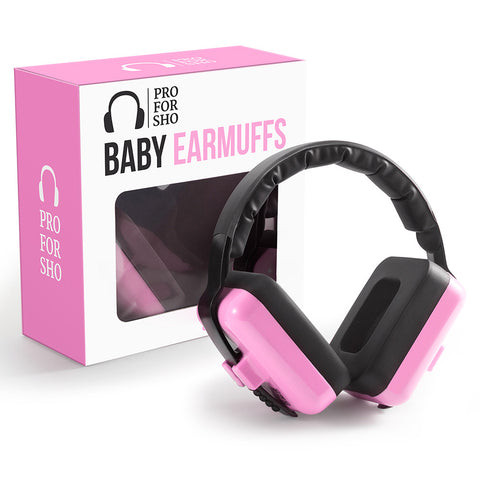 Pro For Sho Baby Hearing Protection - Special Designed Comfort Fit for 3 Months to 2 Years - Pink