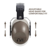 Pro For Sho 34dB Shooting Ear Protection - Special Designed Ear Muffs Lighter Weight - Maximum Hearing Protection , Coyote Brown