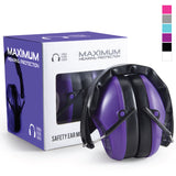 Pro For Sho 34dB NRR Shooting Ear Protection - Lightweight Design - Standard Size Purple