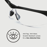 PFS Safety Glasses - Paper-thin Temple Designs for Long Lasting Comforts Under Earmuffs