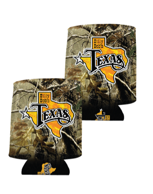 Billy Bob's Texas Camo Koozie