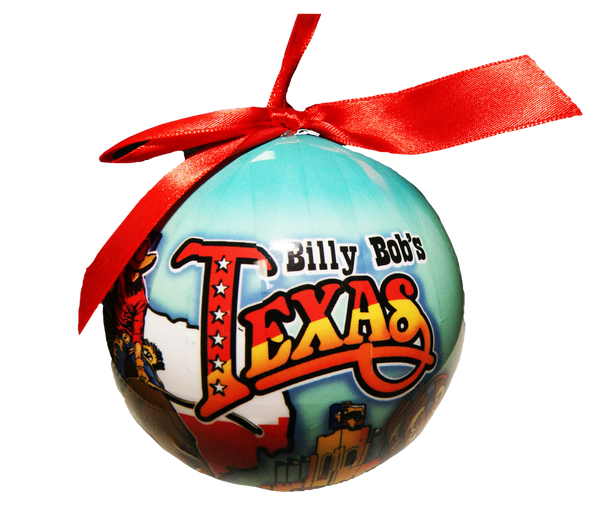 Billy Bob's Texas Shatter Proof Ball Ornament