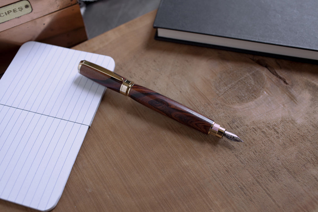 Magnetic Graduate Fountain Pen - 24kt Gold
