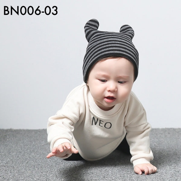 Beanies, BN006 - Raya Striped Beanie - The Baby Zebra