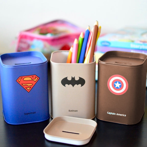 Coin Boxes, CB002 - Superhero Coin Box - The Baby Zebra