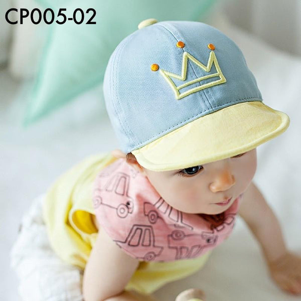 Caps, CP005 - Happy Crown Cap - The Baby Zebra