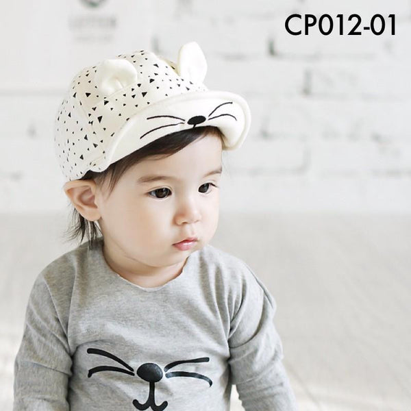 Caps, CP012 - Spotty Cat Cap - The Baby Zebra