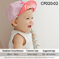 Caps, CP020 - Twinkle Twinkle Cap - The Baby Zebra