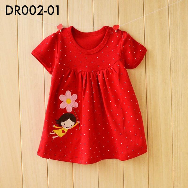 Dresses, DR002 - Red Polka Dots Dress - The Baby Zebra