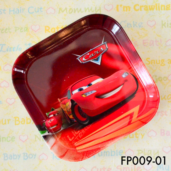Tablewares, FP009 - Pixar Cars Square Plate - The Baby Zebra