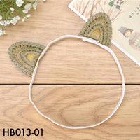 Headbands, HB013 - Golden Cat Ears Head Band - The Baby Zebra