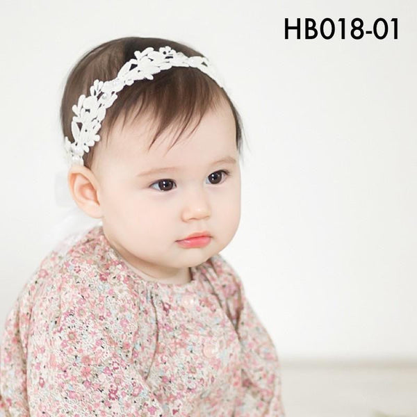 Headbands, HB018 - Lillian Lace Head Band - The Baby Zebra