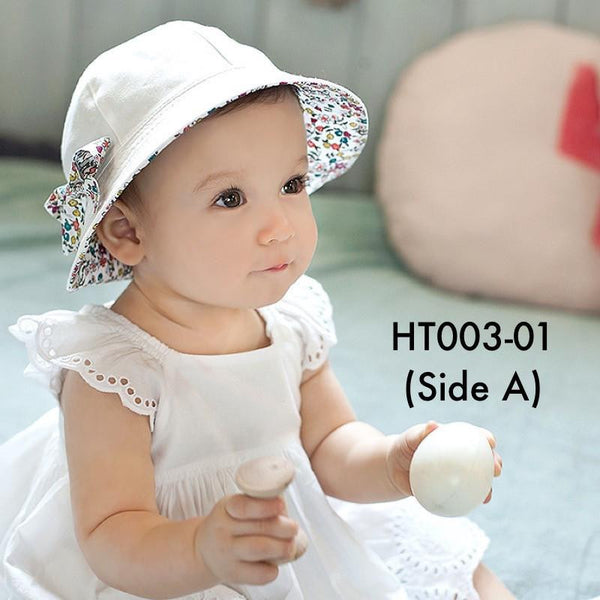 Hats, HT003 - Reversible Floral Hat - The Baby Zebra