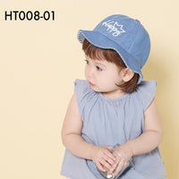 Hats, HT008 - Happy Denim Hat - The Baby Zebra
