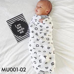 Others, MU001-02 - Modern Burlap Muslin Swaddle - The Baby Zebra