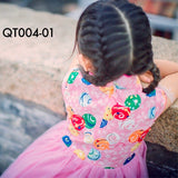 Cheongsam, QT004 - Balloon Theme Cheongsam Tutu Dress - The Baby Zebra