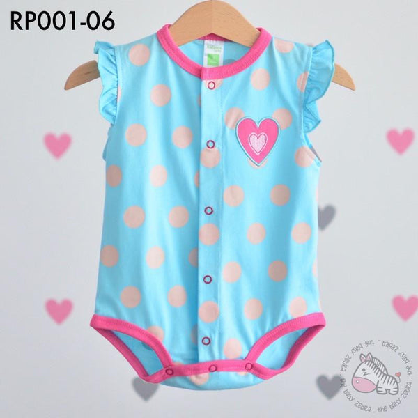 Rompers, RP001-06 - Love Polka Dots Romper - The Baby Zebra