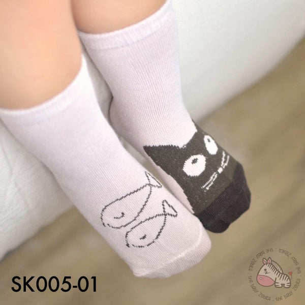 Socks, SK005-Asymmetry Children Sock - The Baby Zebra