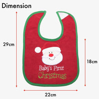Seasonal Items, ZX001-Christmas Bib Set - The Baby Zebra