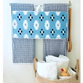 Blue Aztec Bath Kneeler