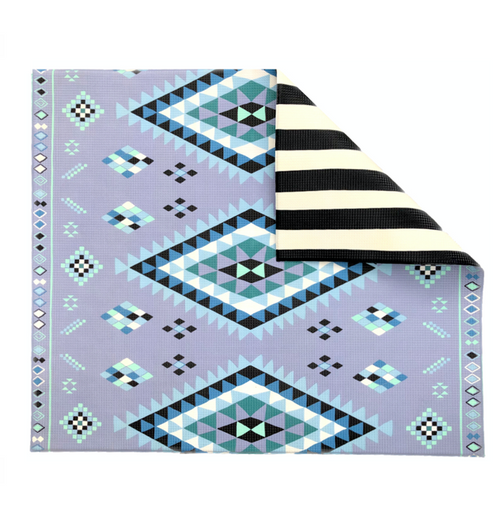 Blue Moroccan/ Stripe Play Mat -PREORDER & SAVE 15% - Shipping June