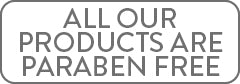 All Our Products Are Paraben Free
