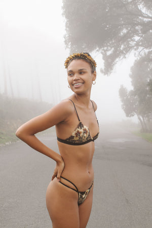 Sustainable lace lingerie