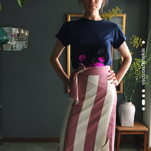 Candy Striped Wrap Skirt
