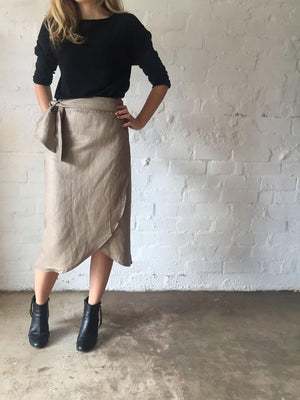 Linen Wrap Skirt - Found Collection