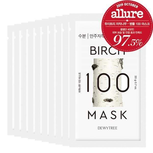 Dewytree Mask sheet [DEWYTREE] Birch 100 Mask (10 PCS)