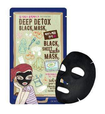 Dewytree Mask sheet [Dewytree] Deep Detox Black Mask (1Box-10PCS)